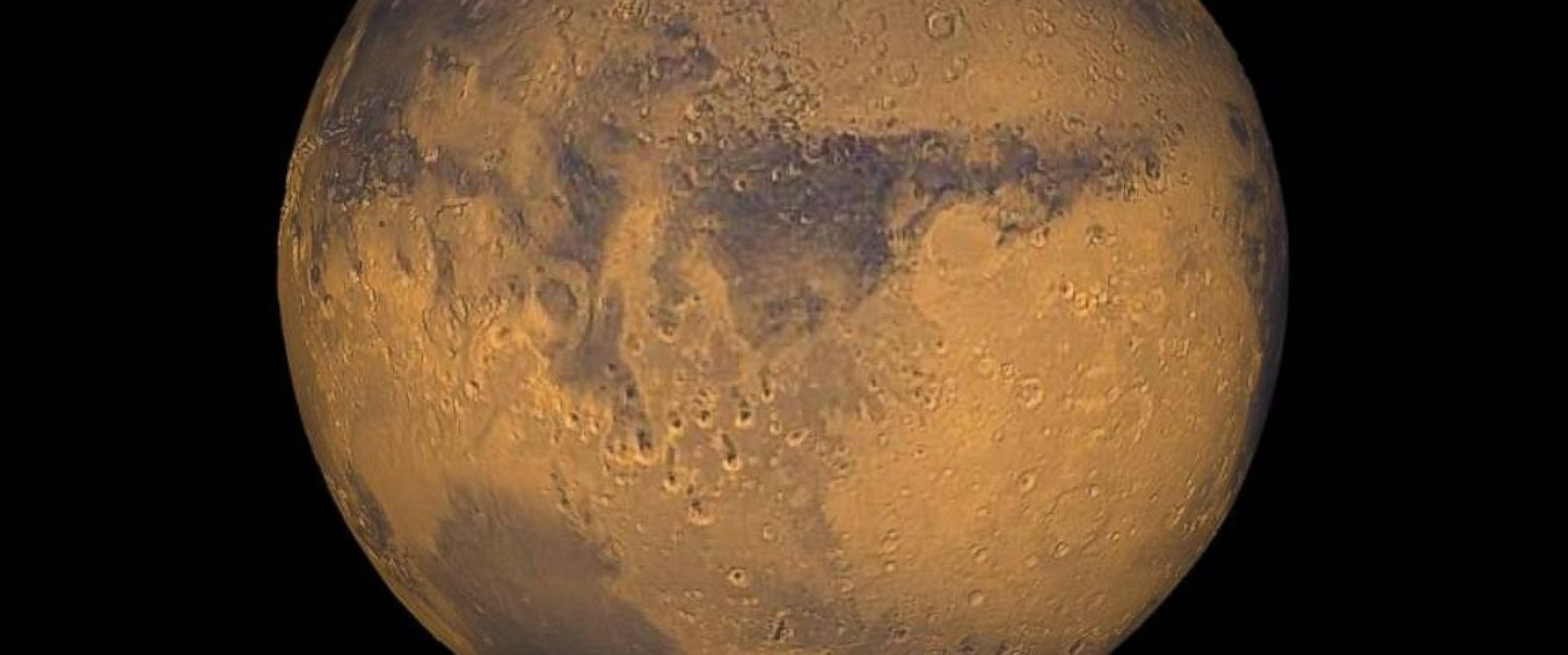 PHOTO: Mars true-color globe showing Terra Meridiani is seen in this undated file photo.