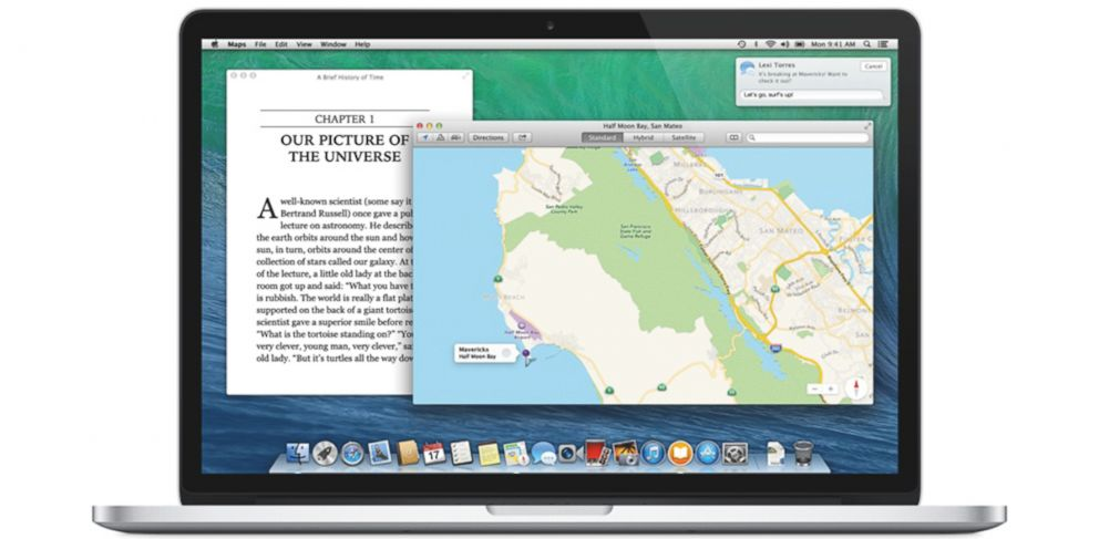 PHOTO: Apples newest version of OS X, called Mavericks, includes a new Maps and iBooks apps.