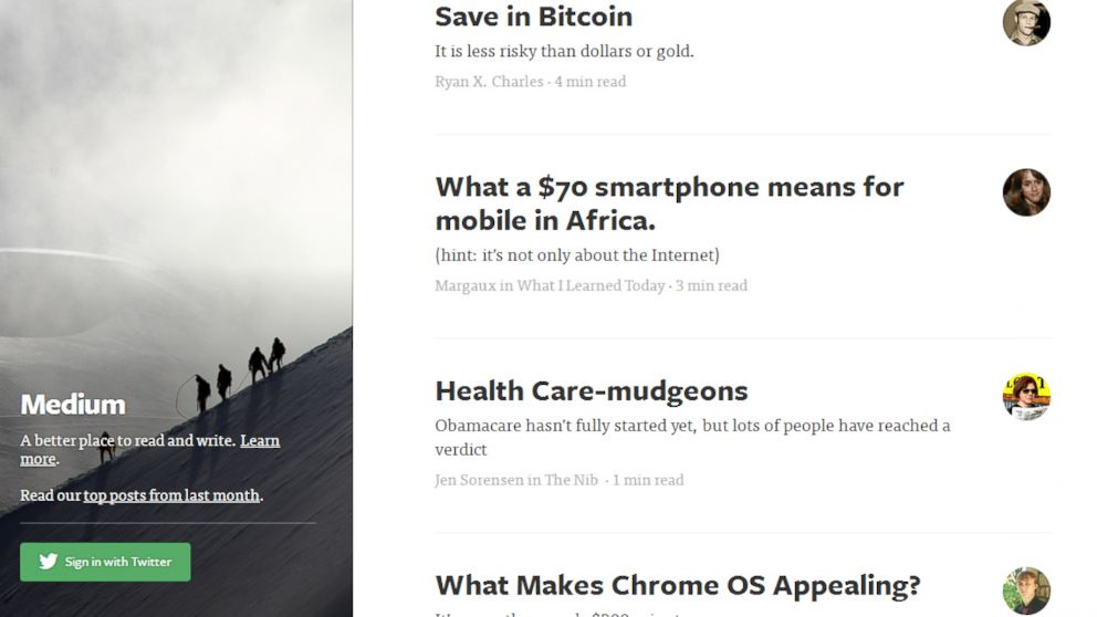 PHOTO: Medium, a new web service, wants to make long articles as shareable as viral videos.
