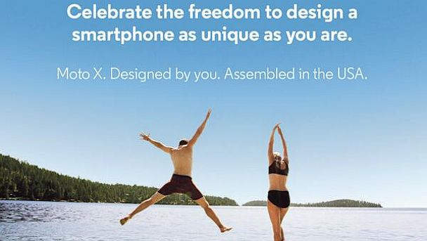 PHOTO:Motorolas teaser for its forthcoming Moto X phone.