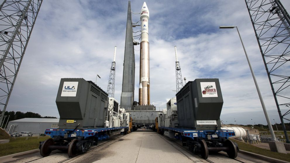 PHOTO: The United Launch Alliance Atlas V rocket carrying NASAs MAVEN, spacecraft.