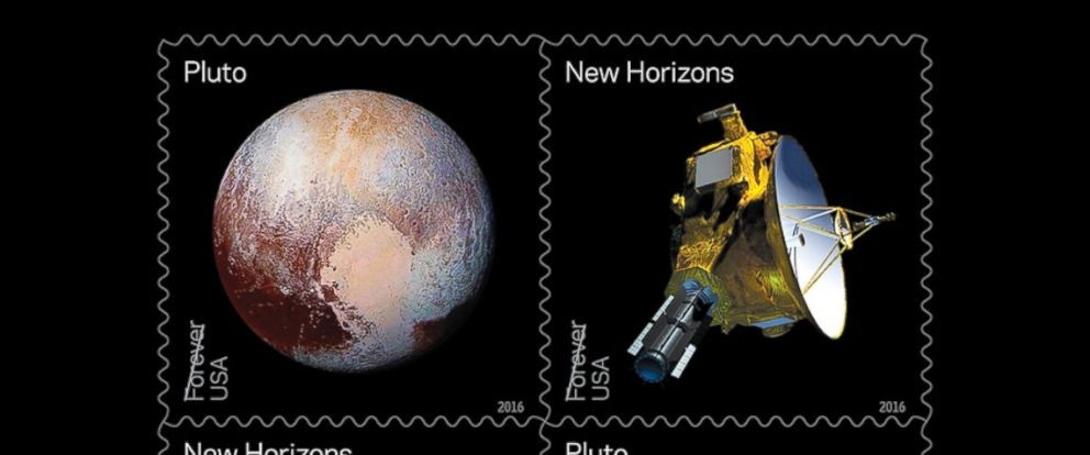PHOTO: The United States Postal Service is releasing stamps that feature NASAs New Horizons space probe and Pluto.