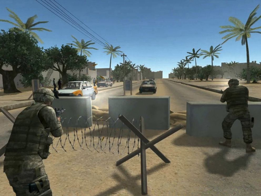PHOTO: This virtual reality simulation uses exposure-therapy to help treat veterans with Post Traumatic Stress Disorder (PTSD).