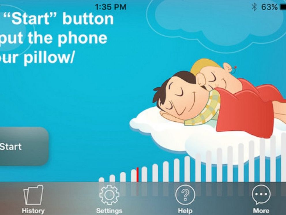 PHOTO:The QuitSnoring app lets users learn how much they snored during the night and displays the data in a graph.
