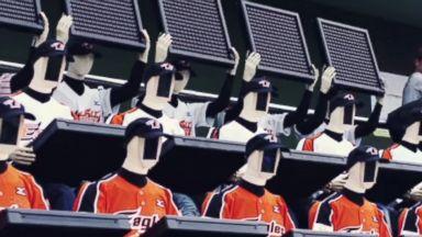 PHOTO: One Korean baseball team has turned to robotic fans to fill seats at its games.