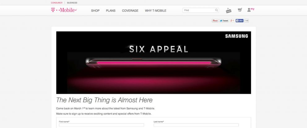 PHOTO: T-Mobile released this image touting Samsungs big Galaxy surprise