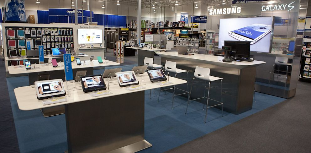 PHOTO: Samsungs Experience Shop is a dedicated section for Samsung products in Best Buy stores.
