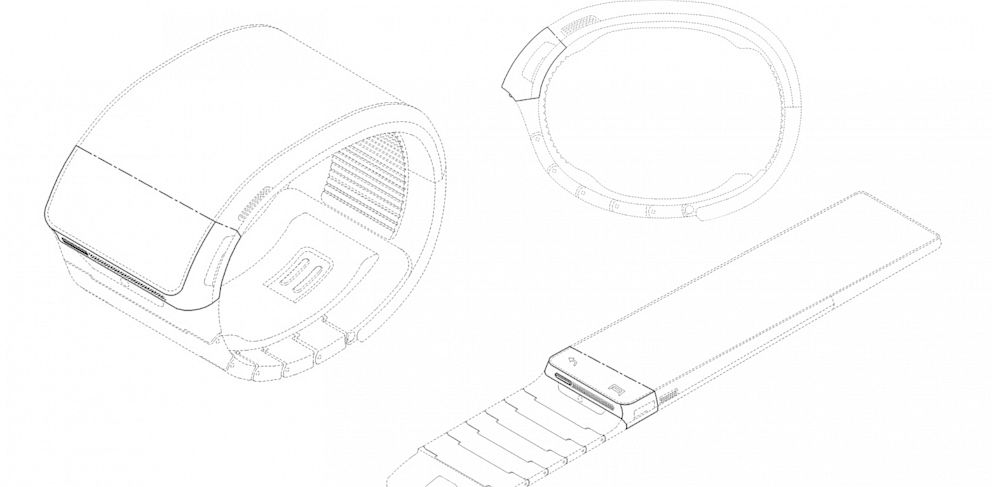 PHOTO: Samsung filed both patents and a US trademark for a smartwatch.