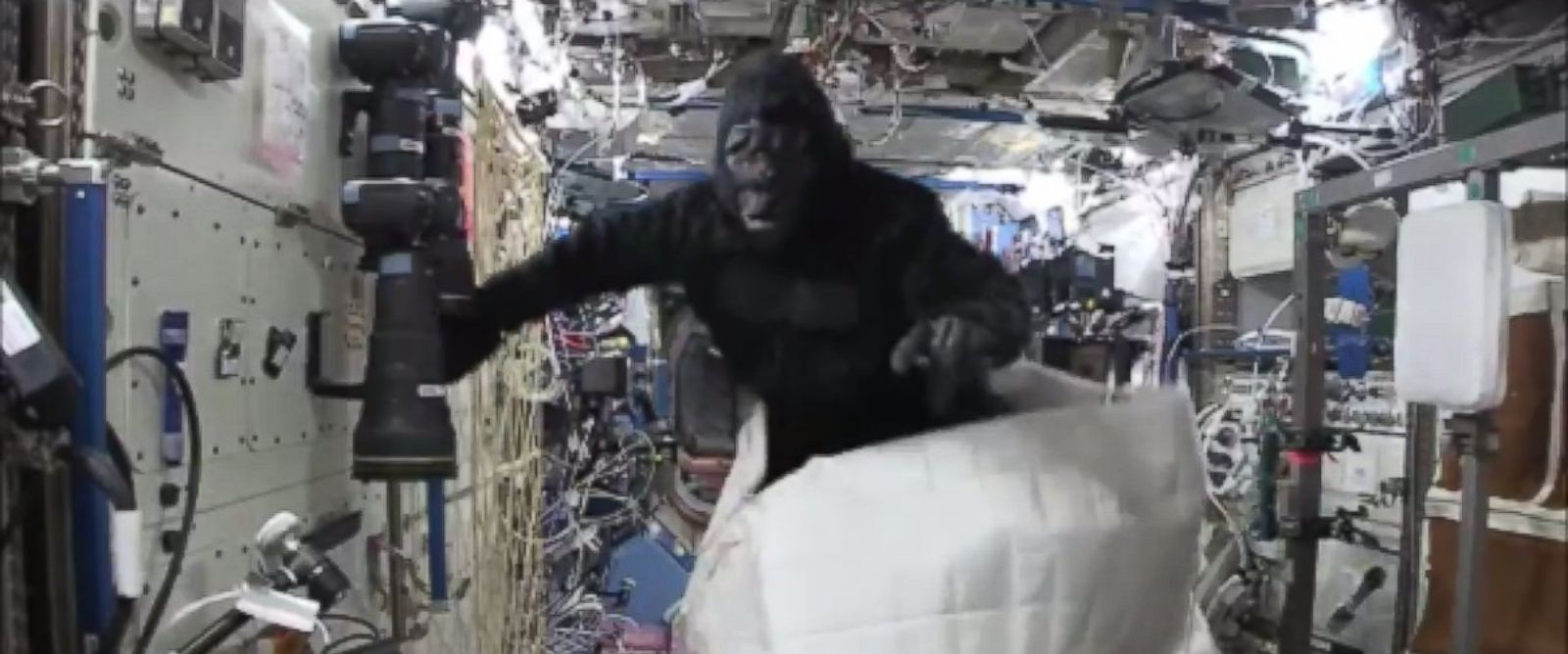 PHOTO: Scott Kelly had some fun in an ape suit at the International Space Station
