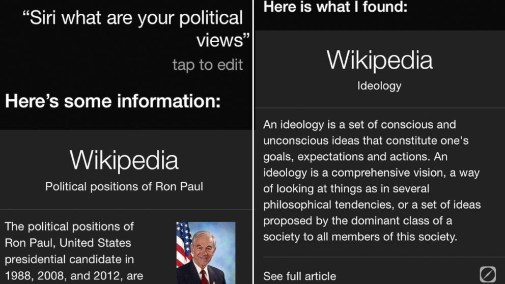 PHOTO: Siri, once a Ron Paul fan?