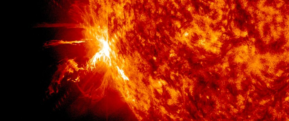 PHOTO: A solar flare erupts on the surface of the sun, June 10, 2014.