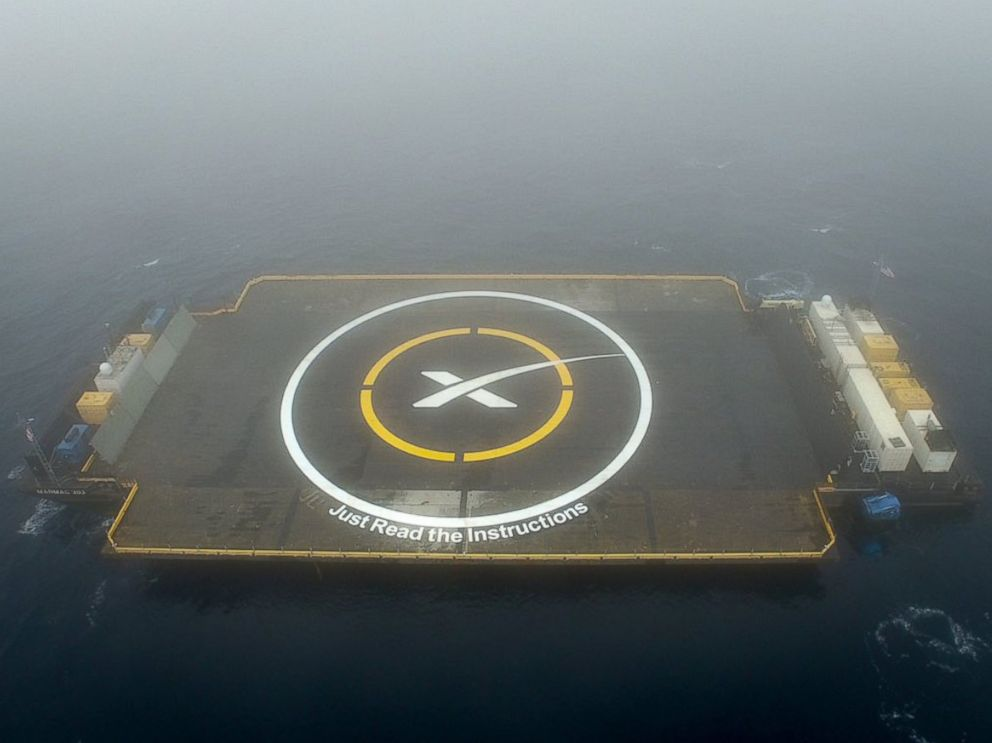 PHOTO: SpaceX posted this photo to its Twitter account on Jan. 16, 2016 with the caption, Out at sea for tomorrows launch and landing attempt.