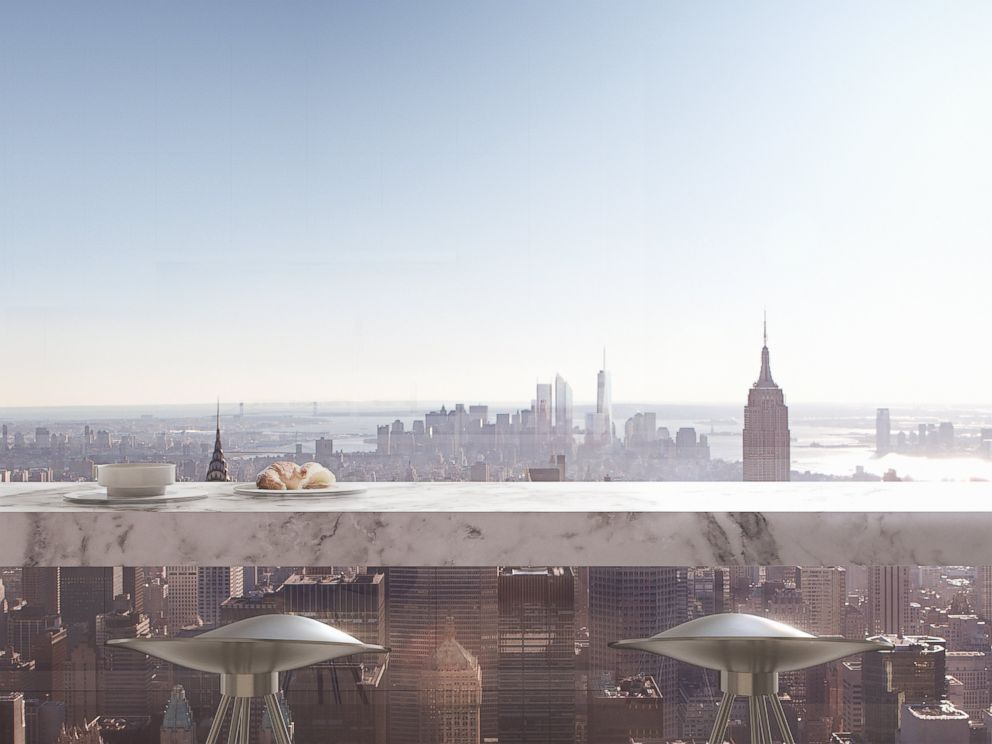 PHOTO: The view from the kitchen breakfast bar of 432 Park Avenue.