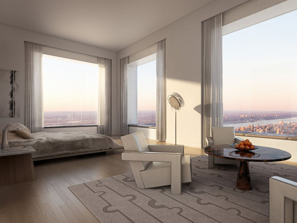 Inside the tallest residential building in the western for Apartment inside