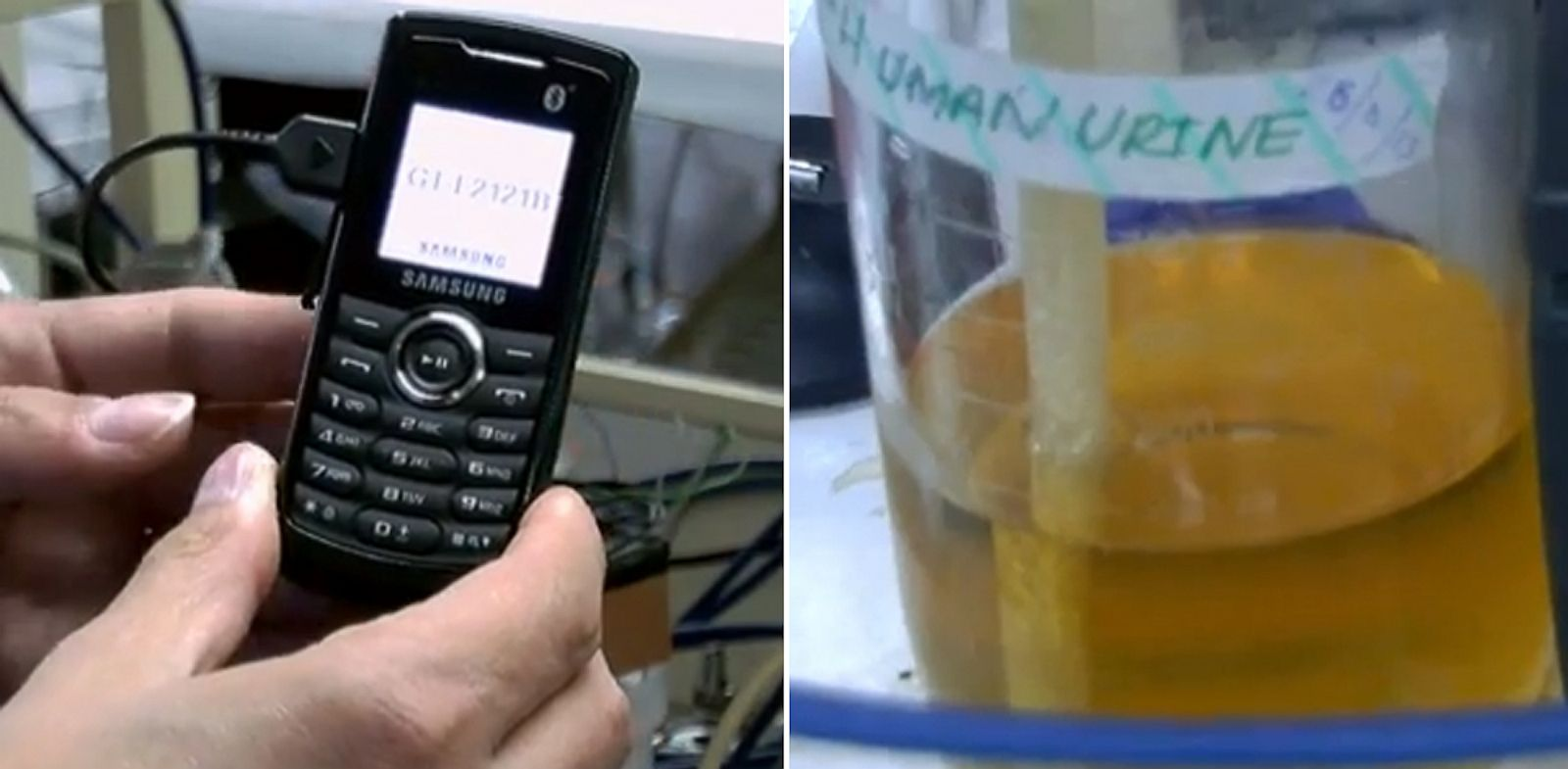 PHOTO: urine cell phones