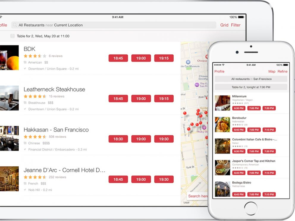 PHOTO: OpenTable will help you make a reservation for your Valentines Day dinner.