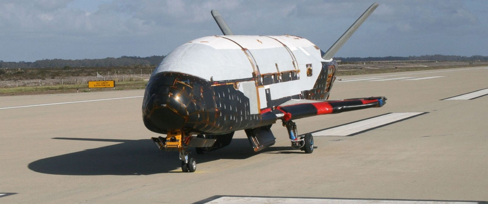 PHOTO: In a testing procedure, the X-37B Orbital Test Vehicle taxis on the flightline, March 30, 2010, at the Astrotech facility in Titusville, Fla.