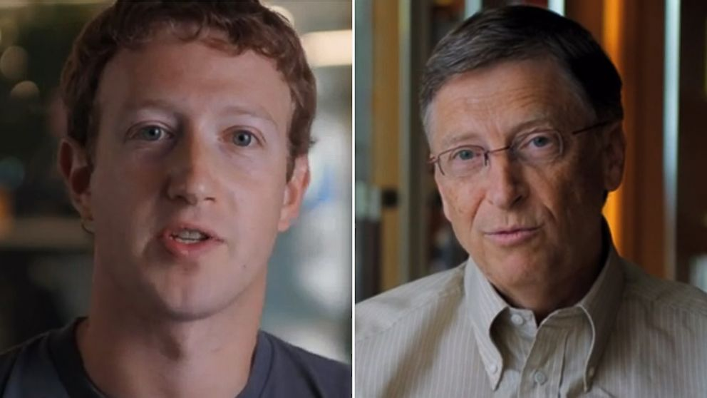 PHOTO: Bill Gates and Mark Zuckerberg will be offering coding tutorials to high school students.