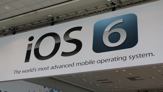 PHOTO: PHOTO, iOS 6 sign at WWDC 2012.