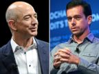 PHOTO: Jeff Bezos, left, and Jack Dorsey