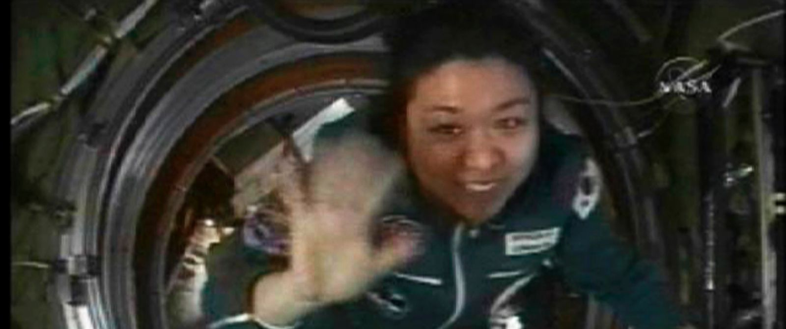PHOTO: Spaceflight participant So-yeon Yi of Korea enters the International Space Station, April 10, 2008.