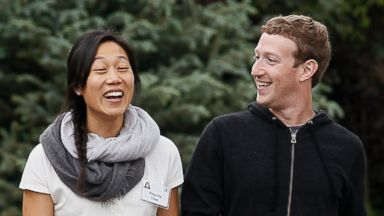 PHOTO: Facebook CEO Mark Zuckerberg walks with his wife Priscilla Chan at the annual Allen and Co. conference at the Sun Valley, Idaho Resort in this July 11, 2013, file photo.