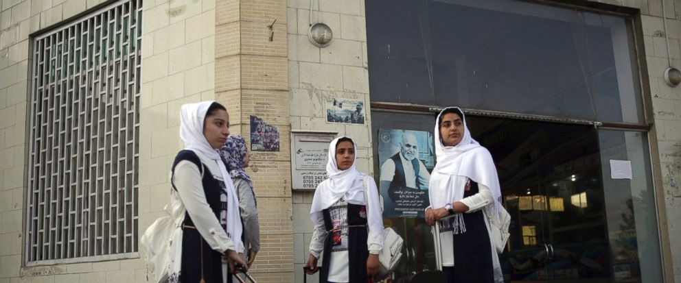 Members of a female robotics team from Herat province, leave Kabul to the U.S. from Kabul Airport, in Kabul, Afghanistan, Friday, Jun 14, 2017. The third times the charm for Afghanistans all girl robotics team, who will be allowed entry into the U.