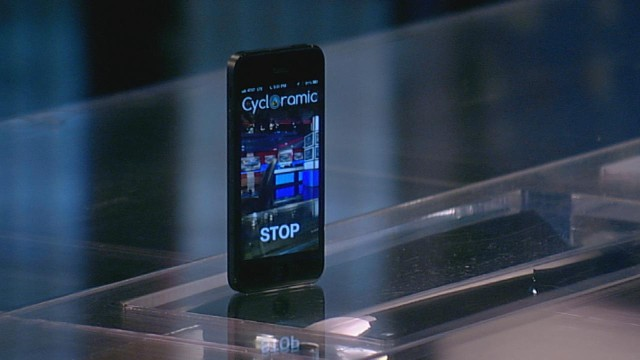 "VIDEO: ABC visits the ""World News"" desk to test out a panoramic video recording app with a unique twist."