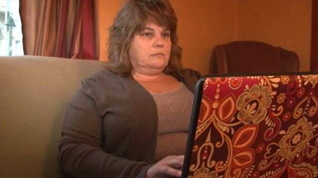 PHOTO: DiAnn Edwards of Red Lion, Pa., plays Farmville on her laptop up to eight hours a day. The 51-year-old spends up to $200 a month on her Farmville habit. She can't help it. She's hooked.
