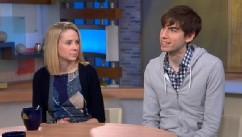 PHOTO: Yahoo CEO Marissa Mayer and Tumblr CEO David Karp appear on Good Morning America after the acquisition.