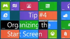 PHOTO: With Windows 8 you can organize the Start Screen.