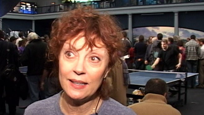 VIDEO: Sport has cerebral side says neuroscientist; enthusiast Susan Sarandon agrees.