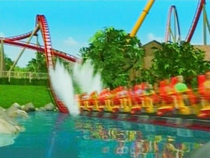 Picture of Diamondback roller coaster.