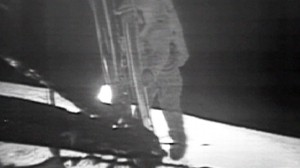 Video:  NASA releases moonwalk video.