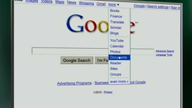 VIDEO: The search engine will offer business software to compete with Microsoft.