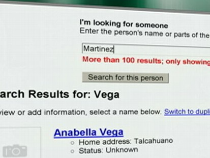 VIDEO: The search engine launched a program so users can find their family in Chile.