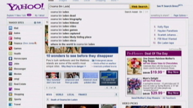 Osama Bin Laden Dominates Searches
