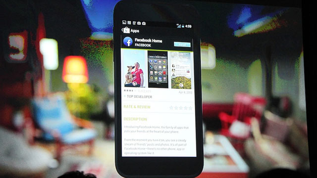 Facebook Unveils 'Home' on Android Phone