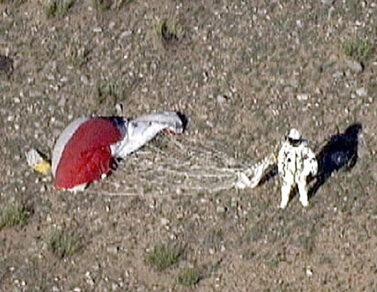Skydiver in 23-Mile Jump