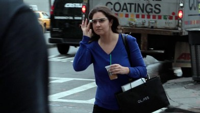PHOTO: ABC News' Joanna Stern tests Google Glass.