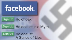 Photo: Facebook Pushed to Ban Holocaust Denial Groups: Social networking site in hot water for allowing offensive groups.