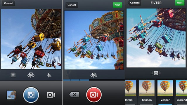 PHOTO: Video capture will now be a part of the iPhone and Android Instagram apps.