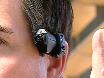Video: Police test out new body mounting cameras.