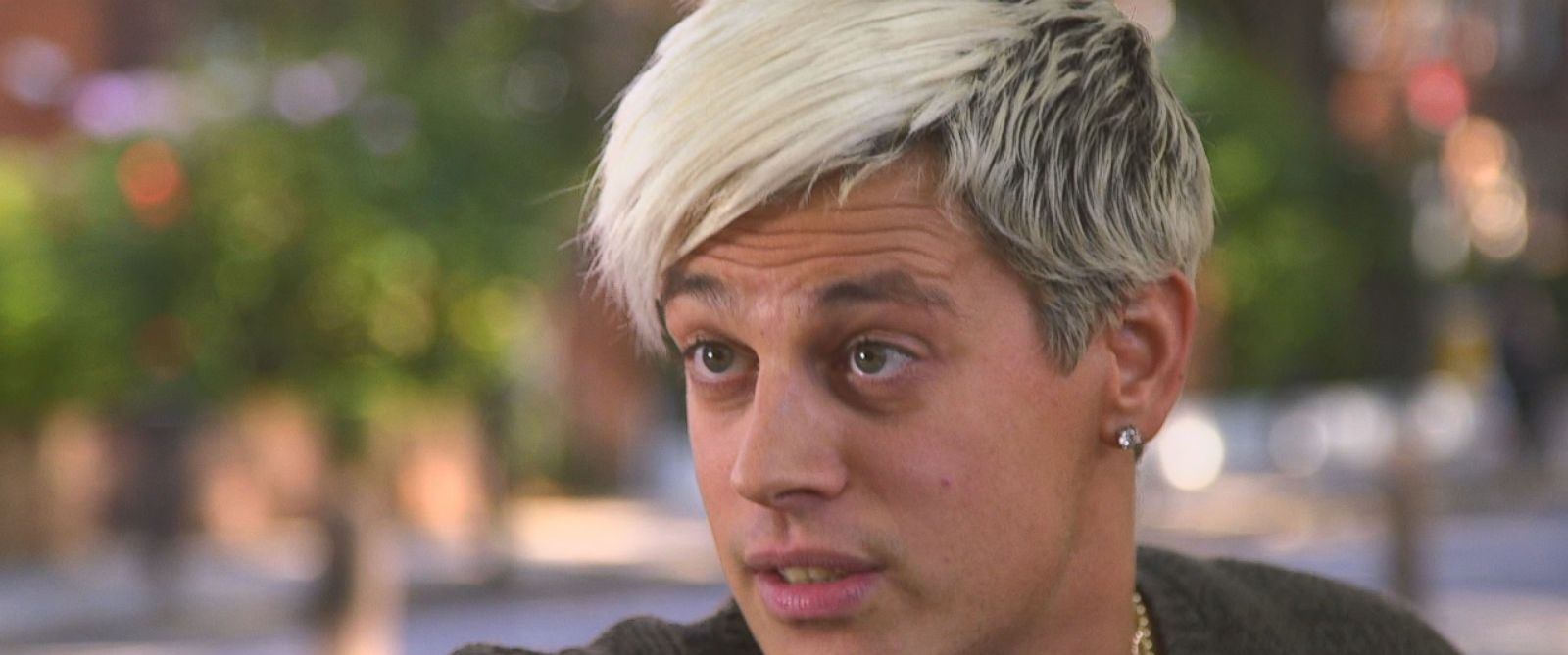 """Milo Yiannopoulos is shown here during an interview with ABC News """"Nightline."""""""