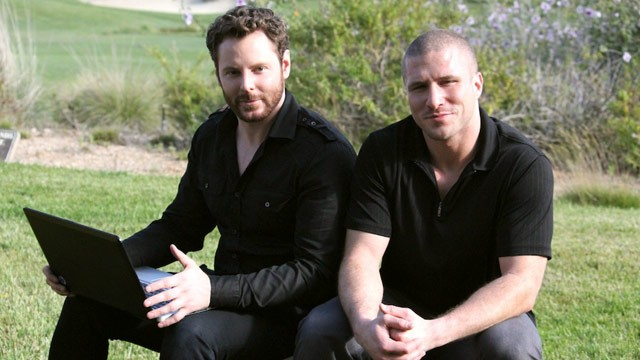 PHOTO: Sean Parker and Shawn Fanning