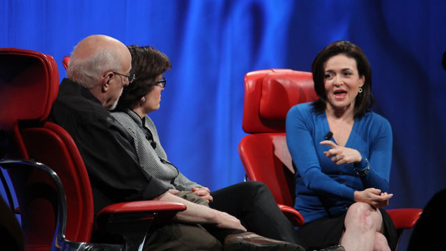 PHOTO: Facebook COO Sheryl Sandberg speaks at the 2013 All Things D conference.
