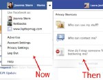PHOTO: Facebook Privacy Settings Then and Now