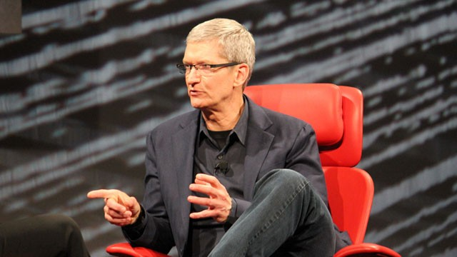 PHOTO:&nbsp;Apple CEO Tim Cook speaks at the All Things D conference in Los Angeles.