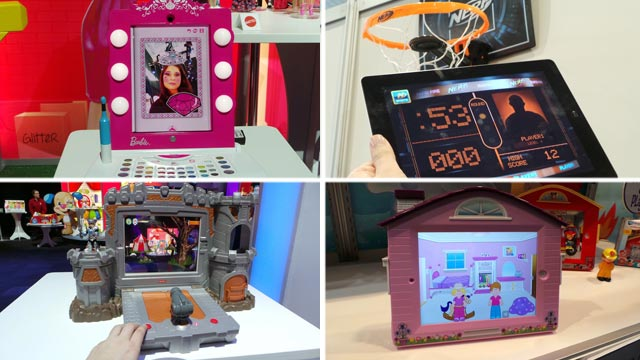 PHOTO: At the 2013 Toy Fair, toys built around the iPad are everywhere.