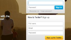 PHOTO: Twitter's sign up page.